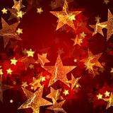 golden stars in red