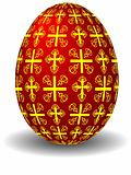 easter celebratory red egg