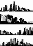 Set of cities. Vector
