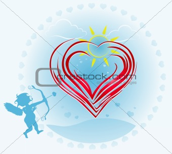 abstract valentine