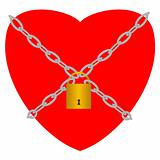 Heart with padlock
