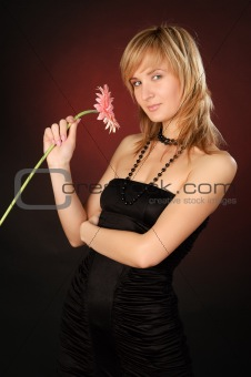 beautiful girl with a flower
