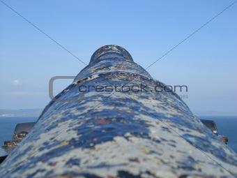 Old fashioned sea cannon