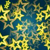 golden stars in blue background
