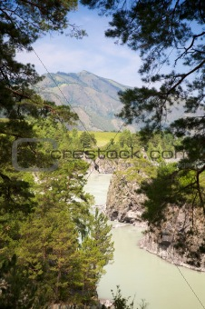 Katun river and mountains