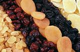 Dried fruits - background