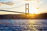 Bosphorus Bridge at sunset