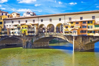 Ancient bridge Ponte vecchio