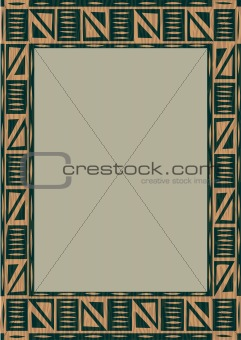 African wooden frame