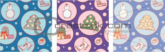An elements of Christmas pattern to cloning and putting together