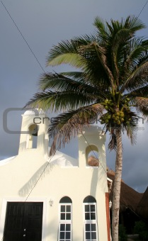 Chapel and Palm Tree