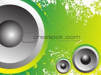 grunge background with speaker, wallpaper