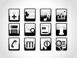 high quality web symbols, black