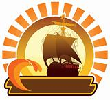 Summer icon - ship
