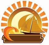 Summer icon - sailboat
