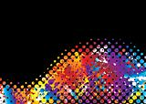 halftone rainbow wave