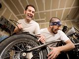 Laughing Motorcycle Mechanics