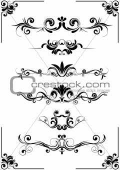 Abstract floral design ornament