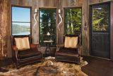 Luxurious Rustic Reading Room in Rural Setting with Lake View.