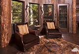 Luxurious Rustic Reading Room in Rural Setting.