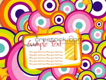background with fancy circles sale, vector
