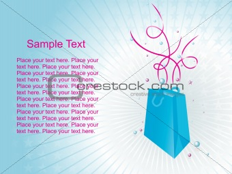 background with fancy shopping bags, vector