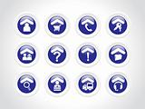 exclusive rounded blue set of web 2.0 Icon