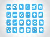 exclusive series of web Icons in blue