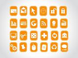 exclusive series of web Icons in orange