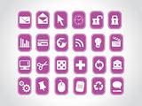 exclusive series of web Icons in purple