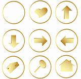 gold round web buttons