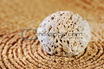 Circles on sand