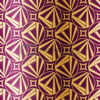 Art Deco seamless geometric pattern