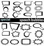 special speech bubbles collection