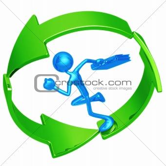 Business Recycling Progress Runner