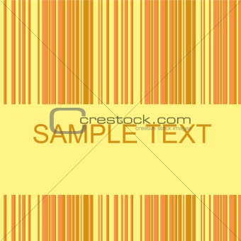 Retro stripe pattern with brown and yellow