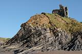 ballybunion castle on the cliff