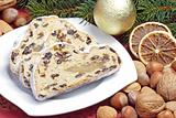 Stollen with garnish