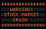 Stock Market warning board