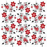 Patterned flower background