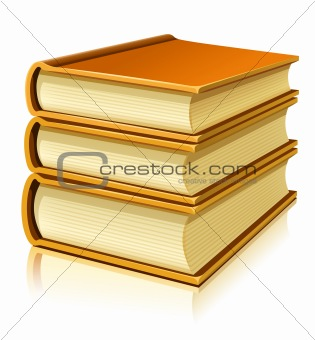 group of paper books with blank cover