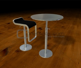 Aluminium table and chair