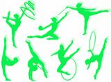 Rhythmic gymnastics exercises