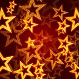 golden stars in red background