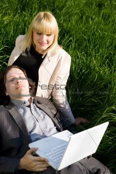 rest with laptop