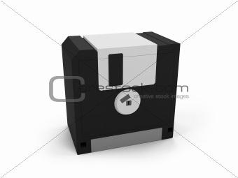 Floppy safe over white