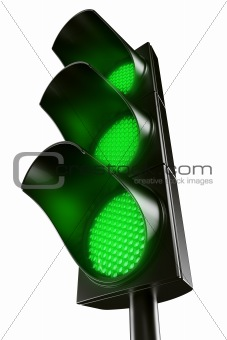 All green traffic light