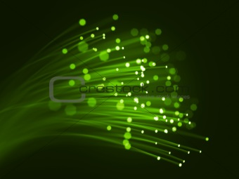 Green optic fibers
