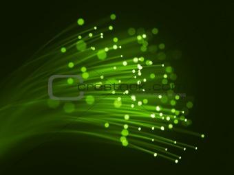 Green optic fibers