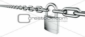 Chain with padlock